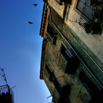 Alte Häuser Sizilien