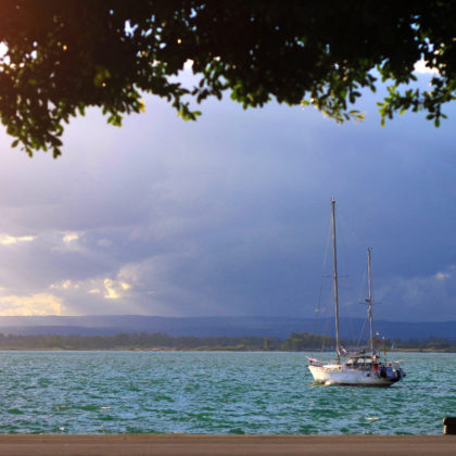 segelboot-abend
