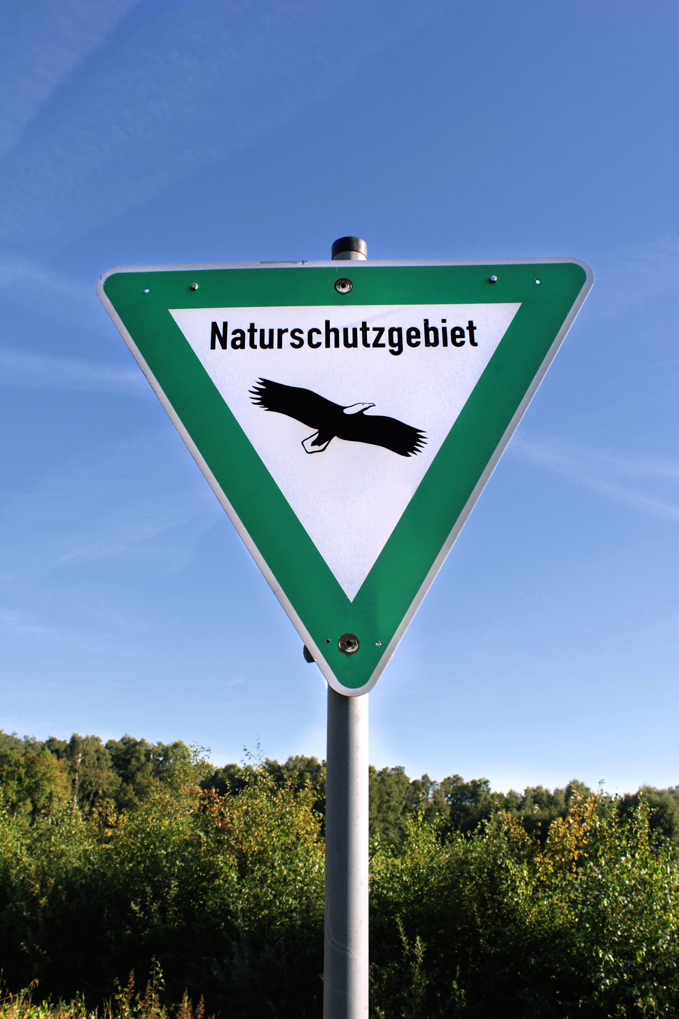 Naturschutzgebiet Schild