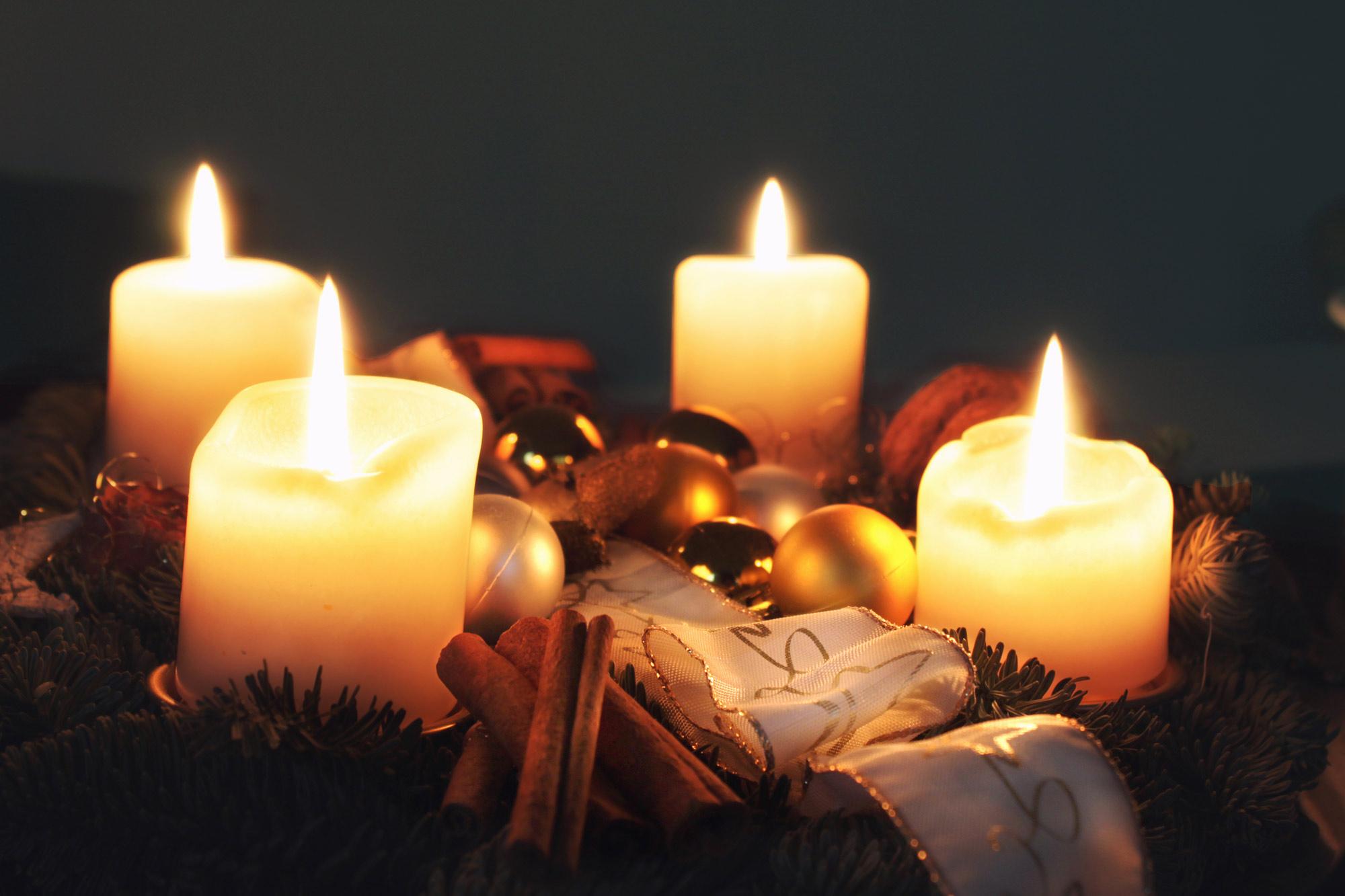 Weihnachten Adventskranz