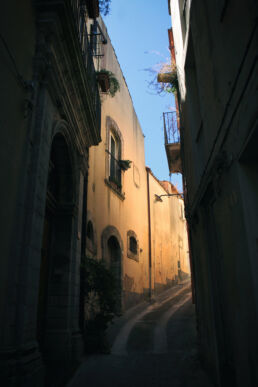 Gasse Ragusa Sizilien