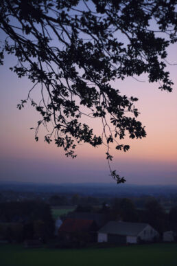 Häuser Sonnenuntergang