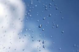 Regentropfen Fenster