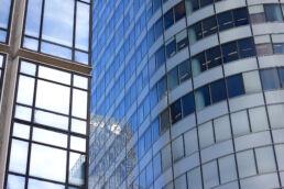 Glasfassade Hochhäuser