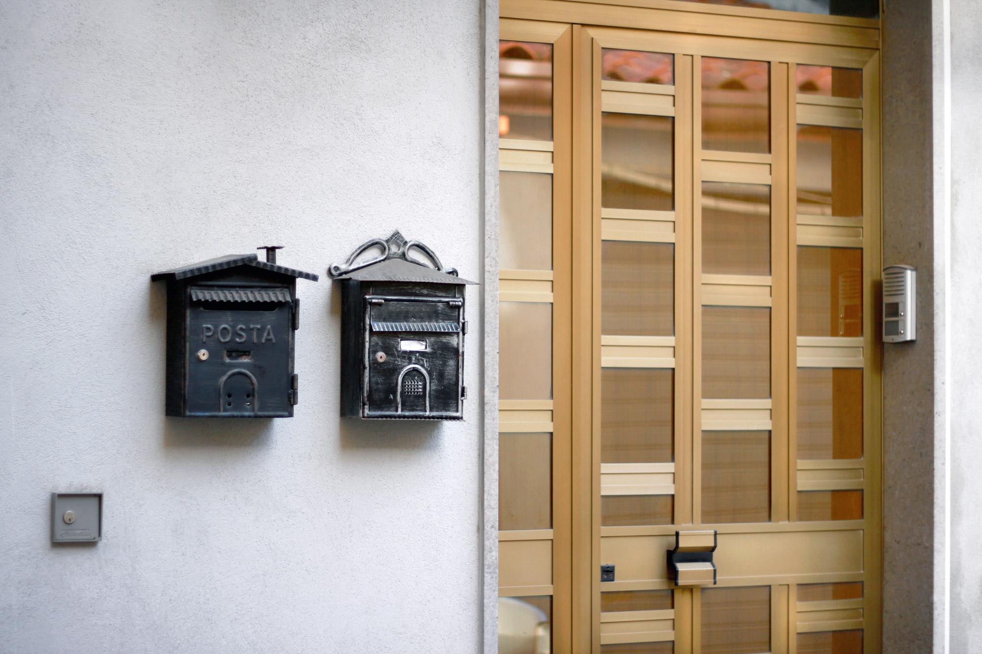 Haustür Briefkästen