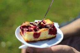 Kuchenstück auf Teller