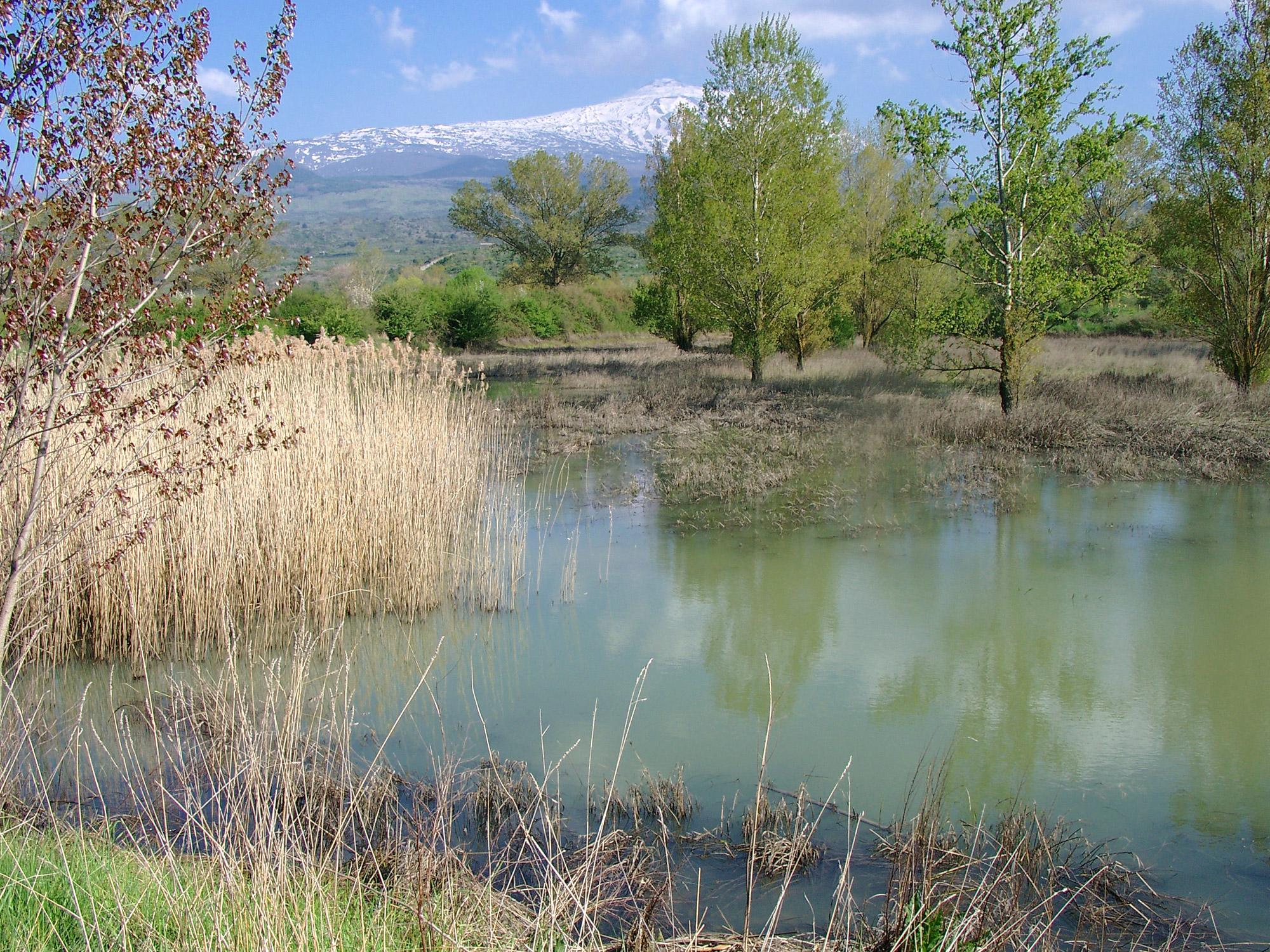 Lake Landscape Mount Etna