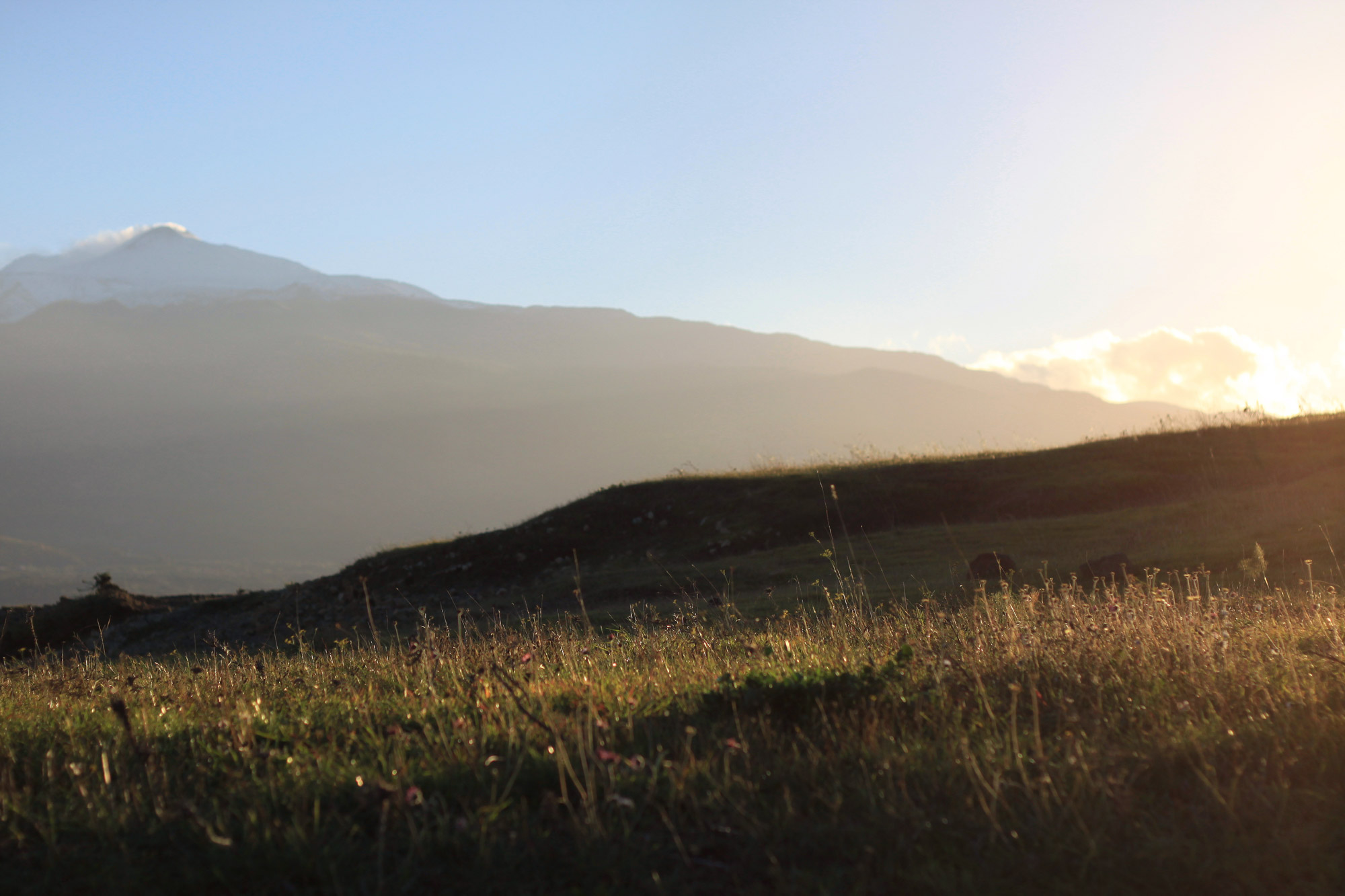 Mount Etna Sunset