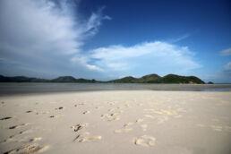 Strand Fußspuren