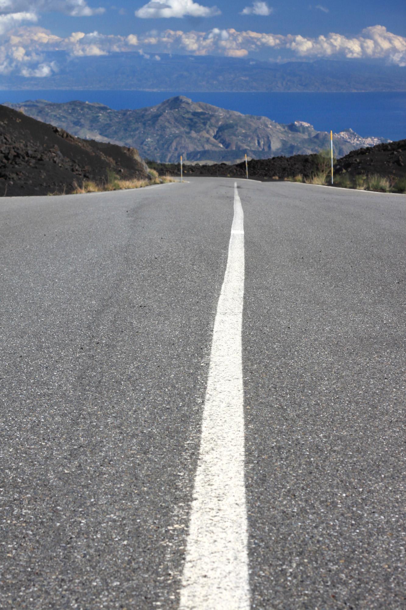 Road Serpentine Mount Etna