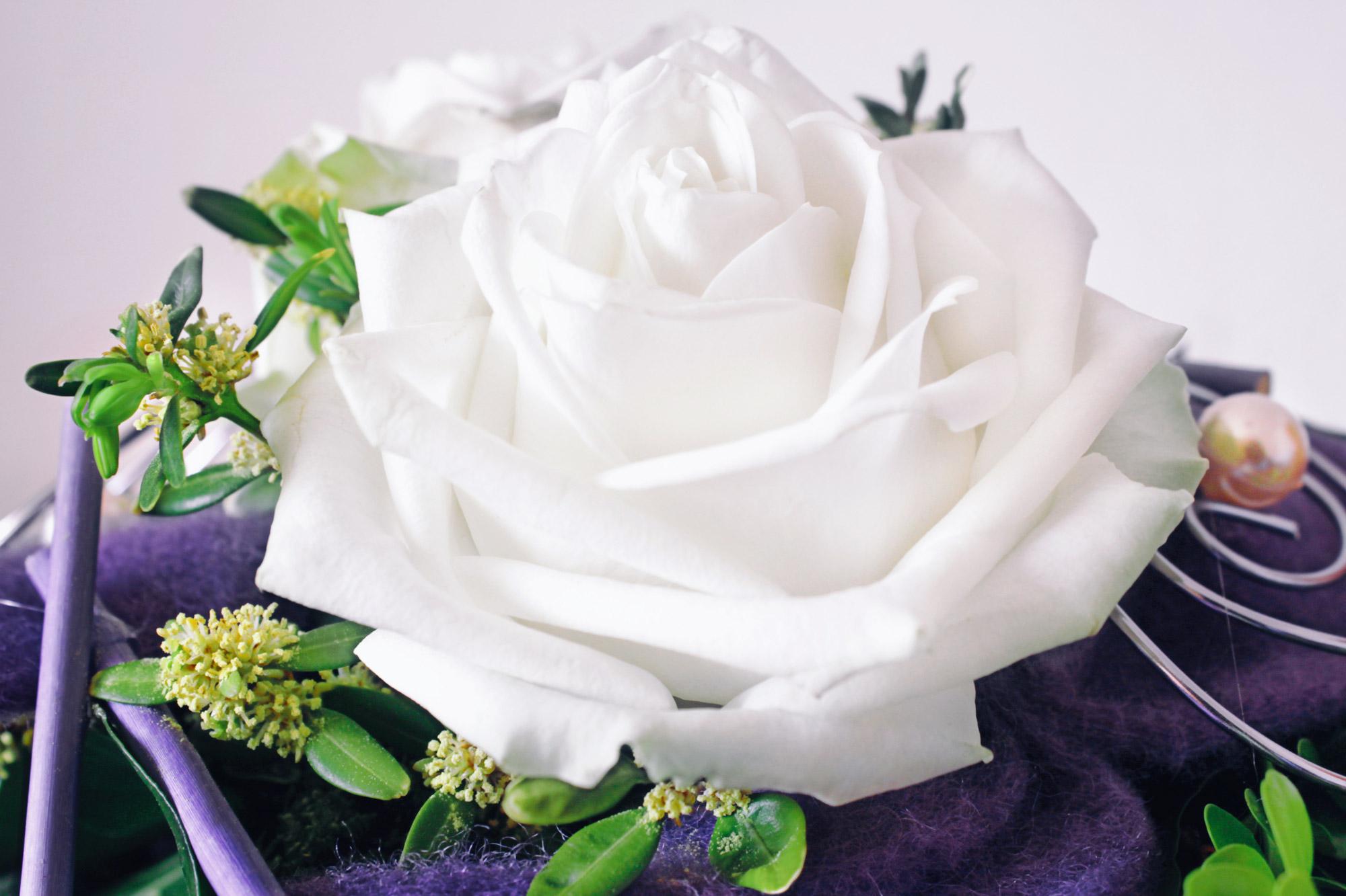Weisse Rose Blumenstrauß